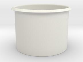 Hole Cap in White Natural Versatile Plastic