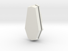 Coffin Box Med in White Natural Versatile Plastic