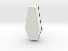 Coffin Box Small in White Natural Versatile Plastic