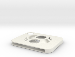 Flash Cover Yin Yang Slotted in White Natural Versatile Plastic