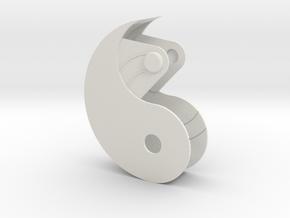 Yin Yang Box Small in White Natural Versatile Plastic