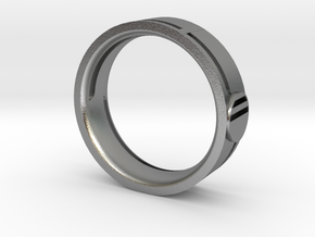 Men's Wedding Band in Natural Silver