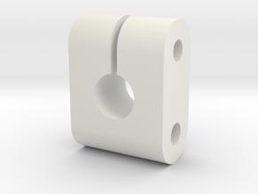 JDH-ar_clamp.stl in White Natural Versatile Plastic