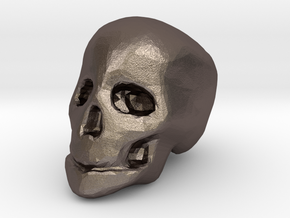 miniature skull in Polished Bronzed Silver Steel