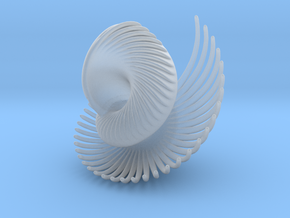 Fractal Conch -2 in Smooth Fine Detail Plastic