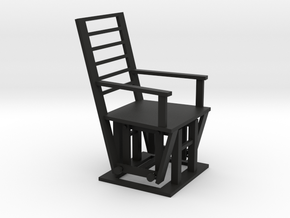 Gliding Chair in Black Strong & Flexible