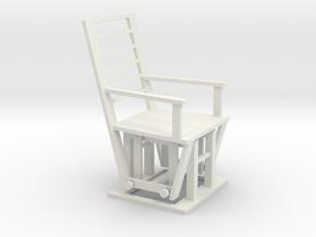 Gliding Chair in White Natural Versatile Plastic
