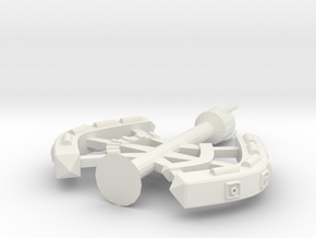 5 Large Spaceship in White Natural Versatile Plastic