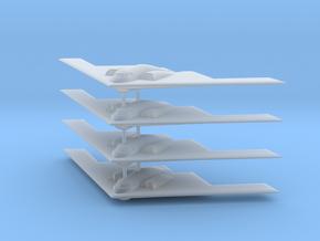 1/700 B-2 Spirit (No Landing Gear) (x4) in Smooth Fine Detail Plastic