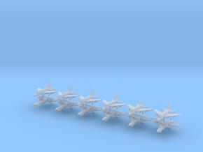 1/700 F-100 Super Sabre (x12) in Smooth Fine Detail Plastic