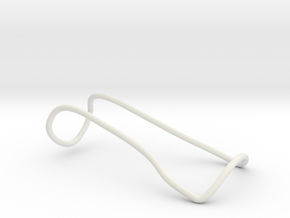 Holder for Iphone in White Natural Versatile Plastic