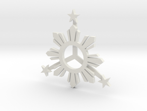 Sun_Star_Final_003.dae in White Natural Versatile Plastic