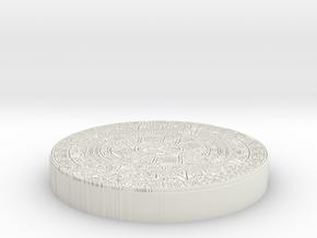 Mayan Pendent in White Natural Versatile Plastic