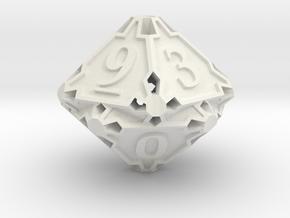 Premier d10 in White Natural Versatile Plastic