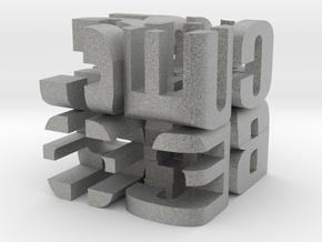 """""""Cube"""" Cube in Metallic Plastic"""