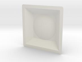 Baseball Stand in White Natural Versatile Plastic