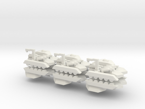 6 Missile Carrier x6 in White Natural Versatile Plastic
