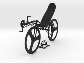 recumbent bike design in Black Strong & Flexible