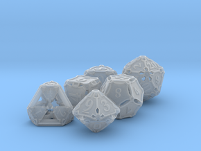 Premier Dice Set in Smooth Fine Detail Plastic