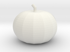 Pumpkin in White Natural Versatile Plastic