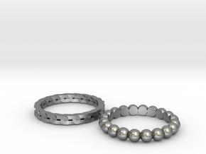 Wedding Rings in Raw Silver