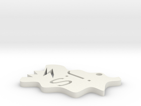 key_fob joe sutton2 in White Natural Versatile Plastic