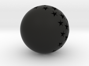 Christmasball with stars in Black Strong & Flexible