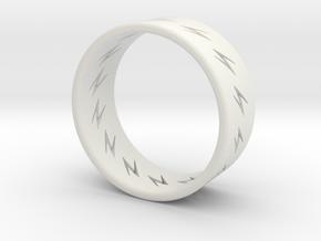 lightning ring in White Natural Versatile Plastic