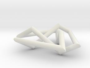 flat trefoil in White Natural Versatile Plastic