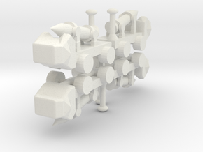 8 Missile Launcher x4 in White Strong & Flexible
