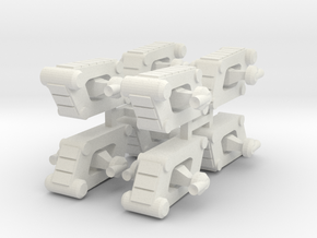 8 Scout Tank x8 in White Strong & Flexible