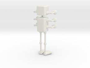 Robot in White Natural Versatile Plastic