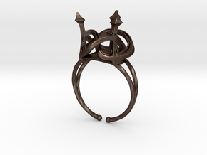 Three Towers Ring in Matte Bronze Steel