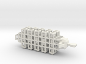 6 Bombardment Ship in White Natural Versatile Plastic