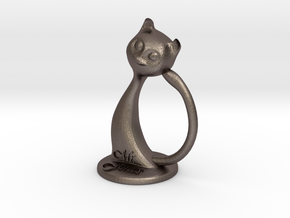 Napkin ring - Male cat  in Stainless Steel