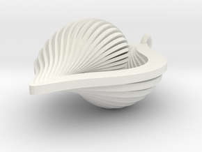 Shell Ornament 2 in White Natural Versatile Plastic