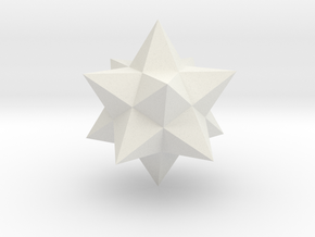 Small stellated dodecahedron (small) in White Natural Versatile Plastic