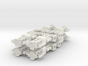 8 Small Spaceship x8 in White Strong & Flexible