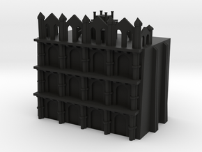 Gothic Residential Block in Black Strong & Flexible