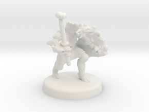 Arjhane (Dragonborn Fighter) in White Natural Versatile Plastic