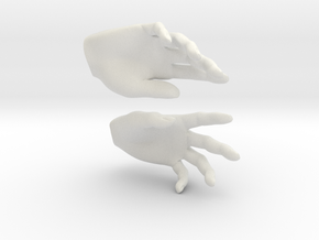 Hands in White Natural Versatile Plastic