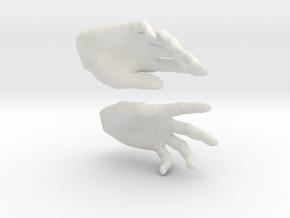 Hands in White Natural Versatile Plastic