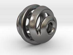 sphere spiral 16mm in Polished Nickel Steel