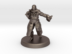 Hakeem (Human battle cleric) in Polished Bronzed Silver Steel