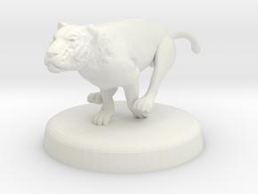 Cora Faral (Tigress - Thinking State) in White Natural Versatile Plastic