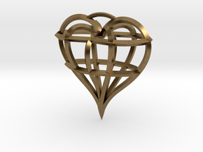 Heart of love in Natural Bronze