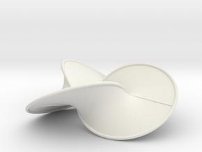 Trefoil Contact Surface (Billiard & Tube) in White Natural Versatile Plastic