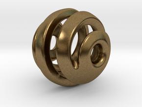 sphere spiral pendant in Natural Bronze