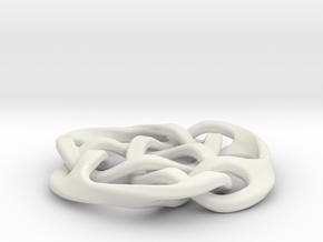 celtic knot 30mm in White Natural Versatile Plastic
