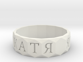 Ring 25 in White Natural Versatile Plastic